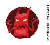 vector image of a round dark... | Shutterstock .eps vector #445242565