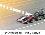 motion blur  race car racing on ...