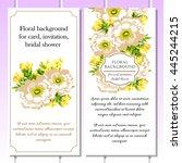 romantic invitation. wedding ... | Shutterstock .eps vector #445244215