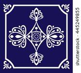 tile pattern seamless vector... | Shutterstock .eps vector #445249855