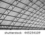 arched roof steel structure the ... | Shutterstock . vector #445254109