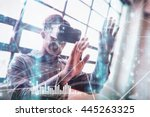 various graphs and connectivity ... | Shutterstock . vector #445263325