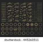 vintage set exclusive borders... | Shutterstock .eps vector #445263511