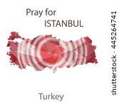 turkey map in geometric... | Shutterstock .eps vector #445264741