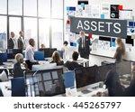 assets value property financial ... | Shutterstock . vector #445265797