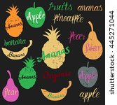 vector fruit logo. fruit and... | Shutterstock .eps vector #445271044