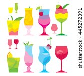 isolated set of colorful... | Shutterstock .eps vector #445272391