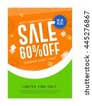 vector illustration sale banner ...   Shutterstock .eps vector #445276867