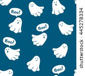 seamless pattern of funny... | Shutterstock .eps vector #445278334
