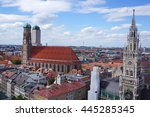 view of munich cityscape with... | Shutterstock . vector #445285345