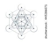 metatrons cube sacred geometry...   Shutterstock .eps vector #445286071