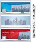 web banner  header layout... | Shutterstock .eps vector #445288309