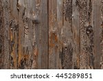 wood background  detail of fence | Shutterstock . vector #445289851
