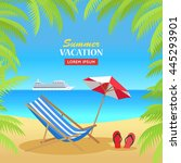 summer vacation concept banner. ... | Shutterstock .eps vector #445293901
