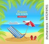 summer vacation concept banner. ... | Shutterstock .eps vector #445293901