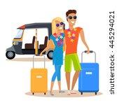 people traveling together... | Shutterstock .eps vector #445294021