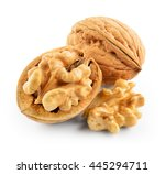 Walnuts Isolated On White...
