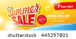 summer sale banner. vector... | Shutterstock .eps vector #445297801