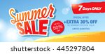 summer sale banner. vector... | Shutterstock .eps vector #445297804