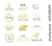 vector trendy hand drawn beauty ... | Shutterstock .eps vector #445298395