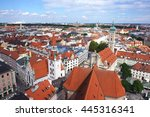 the bavarian styled rooftop... | Shutterstock . vector #445316341