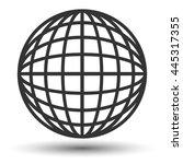 globe icon. logo of globe.... | Shutterstock . vector #445317355