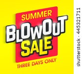 summer blowout sale banner.... | Shutterstock .eps vector #445321711