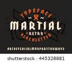 sanserif font in black letter... | Shutterstock .eps vector #445328881