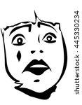 sad white clown | Shutterstock .eps vector #445330234