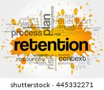 retention word cloud collage ... | Shutterstock .eps vector #445332271
