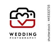 wedding photography logo | Shutterstock .eps vector #445333735