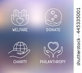 donation   welfare  ... | Shutterstock .eps vector #445335001