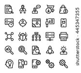 seo and marketing vector icons 3 | Shutterstock .eps vector #445347355