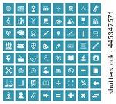 education icon set. eps 10. | Shutterstock .eps vector #445347571