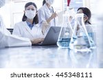 scientists to the meeting... | Shutterstock . vector #445348111