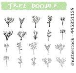 set of tree doodles vector | Shutterstock .eps vector #445351129
