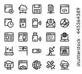 internet vector icons 2   Shutterstock .eps vector #445364389