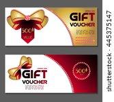 gift voucher. vector ... | Shutterstock .eps vector #445375147