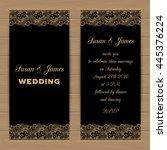wedding card or invitation... | Shutterstock .eps vector #445376224