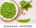 Green Peas In White Bowl On...
