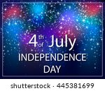 usa independence day background ... | Shutterstock . vector #445381699