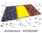 large and diverse group of... | Shutterstock . vector #445382089