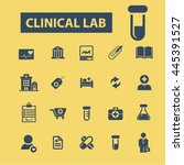 clinical lab icons | Shutterstock .eps vector #445391527