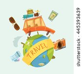travel around the world concept ...