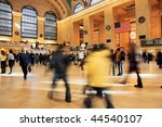 Commuters And Shoppers In...