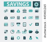 savings icons | Shutterstock .eps vector #445401265