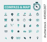 compass map icons   Shutterstock .eps vector #445401307