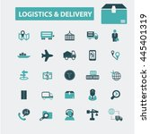 logistics  delivery icons | Shutterstock .eps vector #445401319