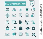 seo optimization icons | Shutterstock .eps vector #445401619