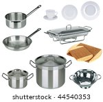 New Kitchen Set Isolated On...